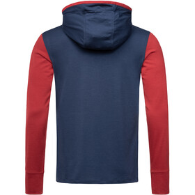super.natural Alpine Hooded Sudadera Capucha Manga Larga Hombre, blue iris/red dhalia